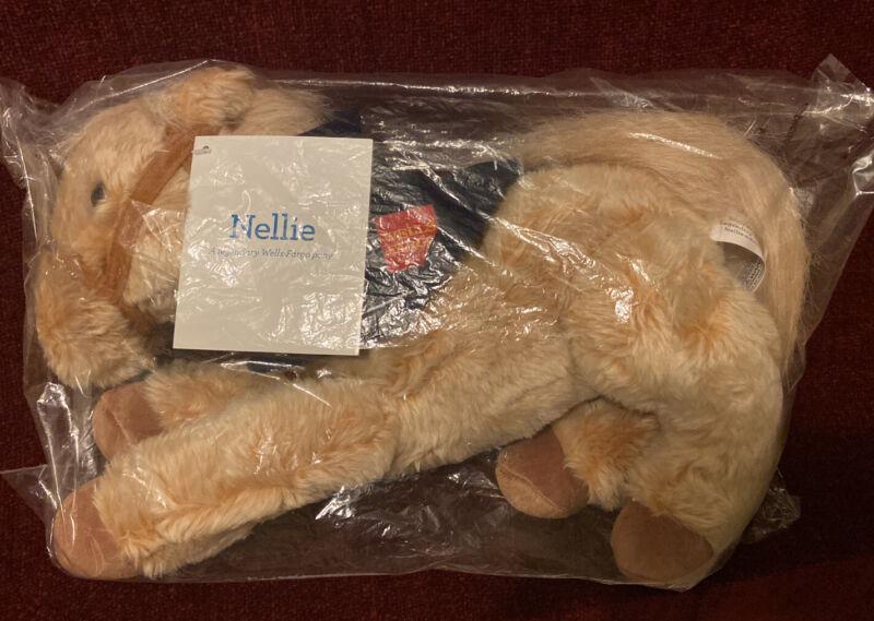 "Wells Fargo Collectible Plush Pony ""Nellie"" 2015 Stuffed Animal W/ Tag. Sealed."