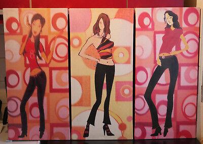 Drei Disco-Queens im Stil der 60er / 70er Jahre (wohl Repros aus den 90ern!) ()