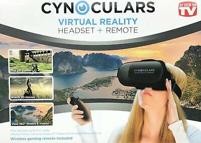 Cynoculars 3D Movie Virtual Reality Headset Wireless Gaming Remote As Seen On TV