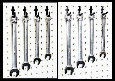 Wallpeg Flex-lock J L Peg Hooks For 14 Pegboard - Lot 100 - Black Or White