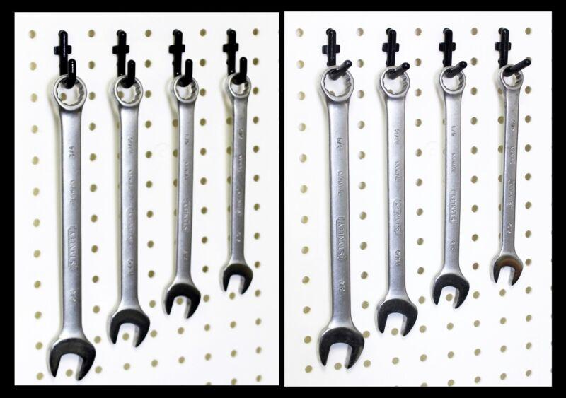 """WallPeg Flex-Lock J & L Peg Hooks for 1/4"""" Pegboard - Lot 100 - Black or White"""