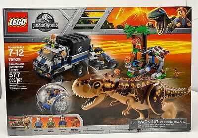 Brand New Sealed LEGO 75929 Jurassic World Carnotaurus Gyrosphere Escape