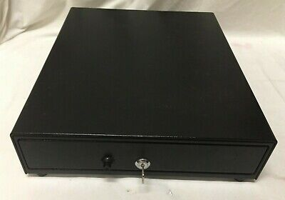 Apg Vasario Manual Pos Cash Drawer Vp101-bl1416 Black Excellent Condition