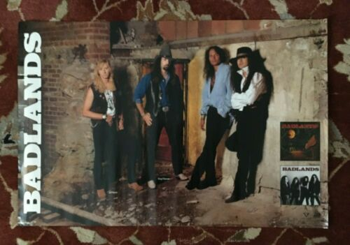 BADLANDS  Voodoo Highway  rare original promotional poster