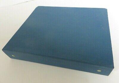 Vintage Blue 2-ring Binder Canvas Cloth 2 Spine Set Lot Of 2