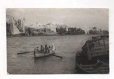 Photo ancienne azemmour maroc 1917 barque afrique du nord vintage