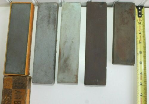 Vintage Lot Of Assorted Sharpening Stones