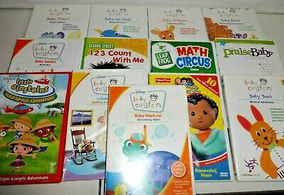 Baby Einstein DVD Lot Disney Educational Toddlers Music Art Language Large Set