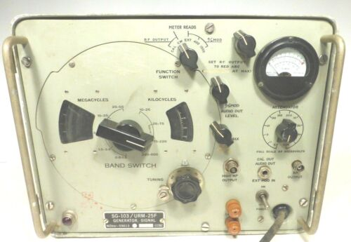 Military  AN/URM-25F SIGNAL GENERATOR 10khz-50mhz WORKS GREAT - best of the best