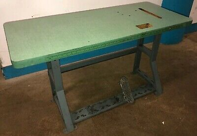 Vintage Singer Industrial Sewing Machine K-leg Table And Top. Our 5