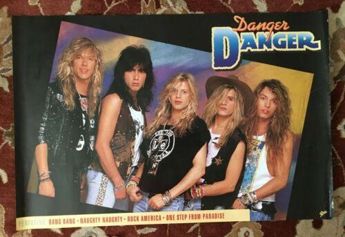 DANGER DANGER  Self-Titled Debut Album  original promotional poster from 1990