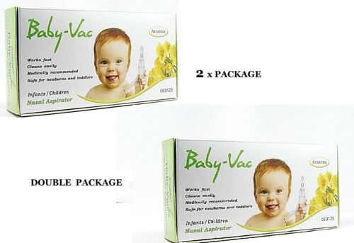 BABY VAC NASAL ASPIRATOR  2XBABY-VAC DOUBLE VALUE DEAL   Medically recommended