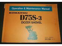 KOMATSU D57S-1 DOZER SHOVEL TRACK LOADER OPERATION /& MAINTENANCE BOOK MANUAL