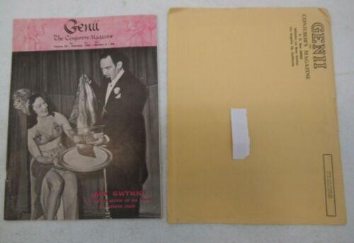 GENII THE CONJURORS MAGAZINE FEBRUARY 1962 JACK GWYNNE MAGIC WITH MAILER VINTAGE