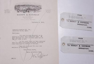 1930 Lamson Goodnow Handy Harman Nyc Precious Metals Tags Ephemera L422l