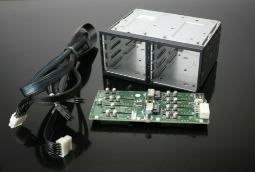 HP HDD Cage with Backplane 507690-001 463173-001 with cables