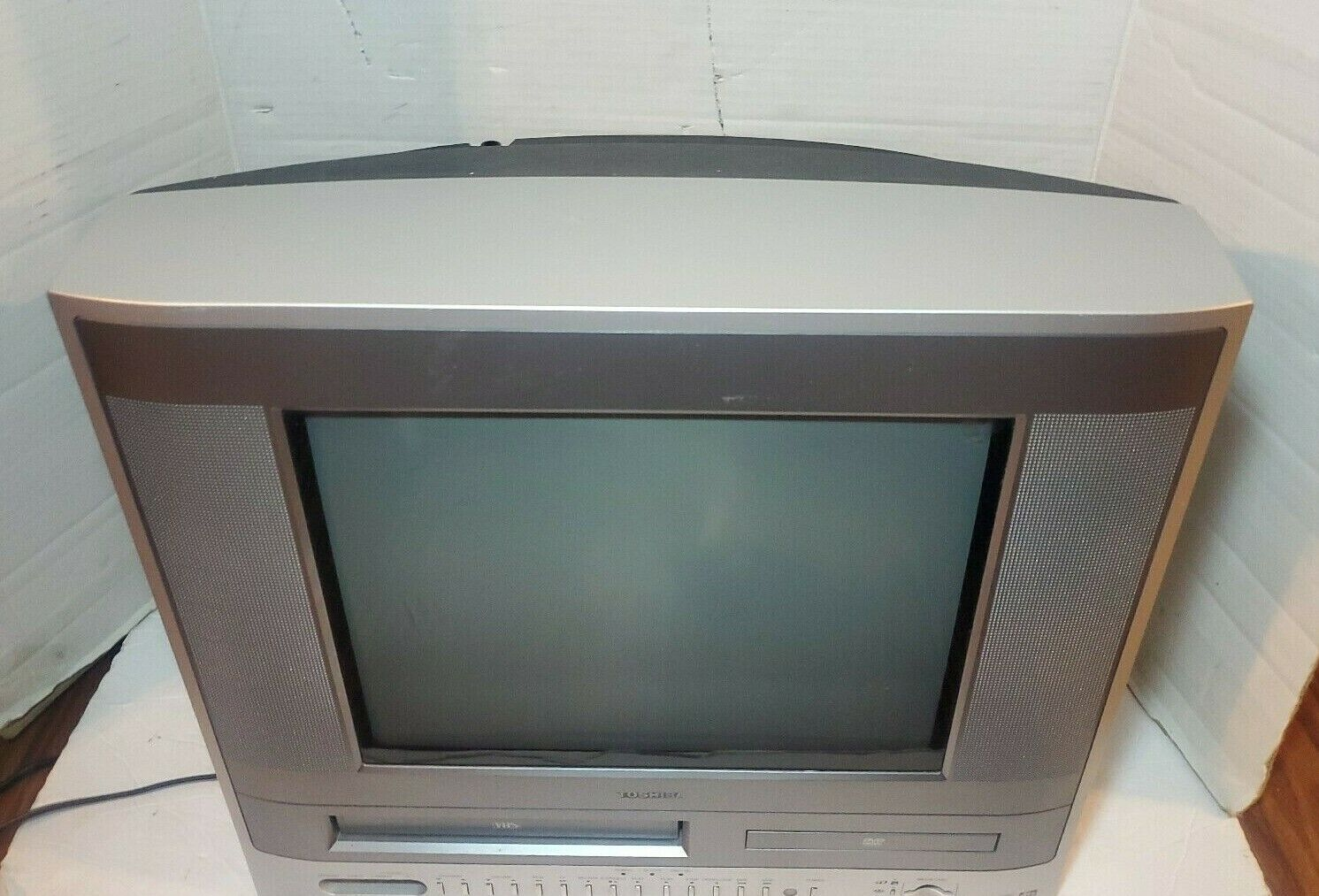"""Toshiba MW14F51 TV VCR VHS DVD Player Combo Gaming Television No Remote 14"""""""