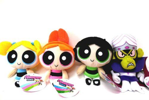 "Powerpuff Girls Plush, Blossom, Bubbles, Buttercup and MoJo JoJo 4 Plush Doll 8"""