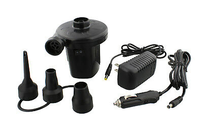 ABN 2-Way Electric Air Pump 12V AC/DC for Air Mattress Inflatable Pool Toys