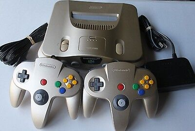 Toys R Us Gold N64 Nintendo 64 Console System Rare Colored Retro Gaming Lot Rare