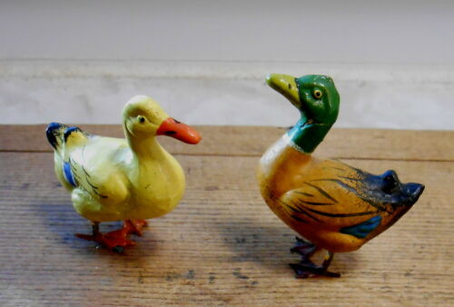Vintage Germany PUTZ Ducks - Birds- Lead Feet