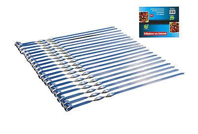 20 x Schaschlikspieße 50 cm Mangal Edelstahl Schampura Grillspieße Fleischspieße ()