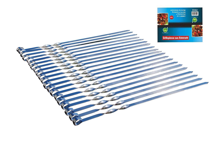 x 2mm Edelstahl Schampura Grillspieße Fleischspieße 10 Schaschlikspieße x 50cm