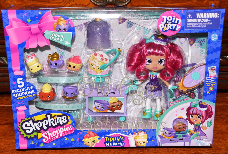 Shopkins Tippy's Tea Party Set 5 Exclusive Shopkins Accessor