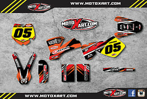 KTM 65 2002 - 2008 Full custom graphics kit DIGGER STYLE - sticker kit decals