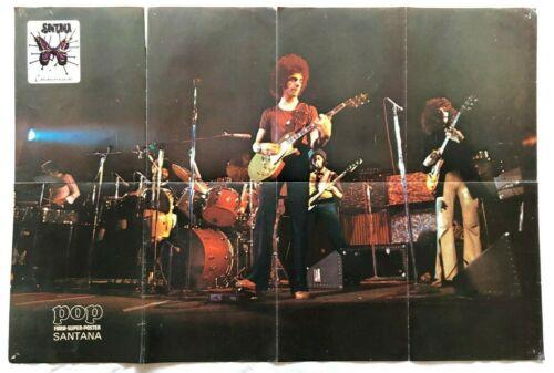 Carlos Santana 1970s Vintage Magazine Original Poster Danish 83 x 56 cm Size