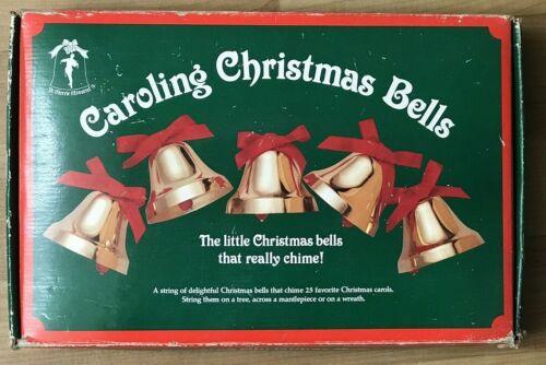 Vintage Ye Merrie Minstrel Caroling Christmas Bells Plays 25 Songs Tune 12 Bells