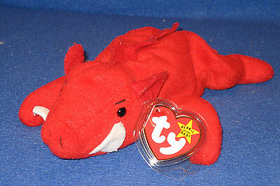 TY GRUNT the RAZORBACK BEANIE BABY- MINT with TAG - PLEASE READ