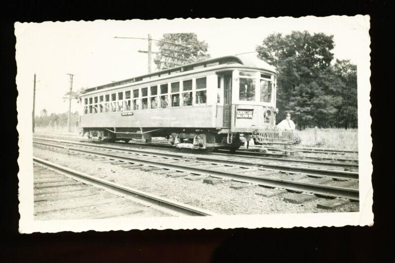 Vintage B&W Trolley Photo - Schenectady Railway - Schenectady-Ballston Spa