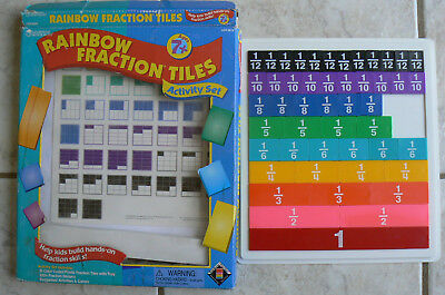 Learning Resources: Rainbow Fraction Tiles Activity Set,7+,missing 3 of 51 tiles
