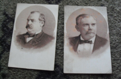 Lot of 2 Late 1800s Early 1900s  VTC Victorian Political Candidate Cards Look