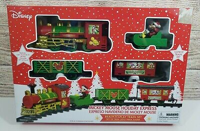 Disney Mickey Mouse Holiday Express 12 Piece Train And Track Set New In Box