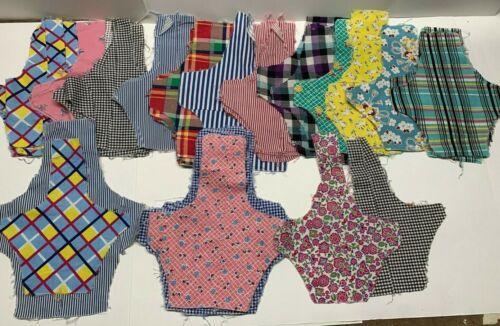 Lot Basket Quilt Blocks for Baskets & Blooms Vintage Applique Feedsack & Cottons