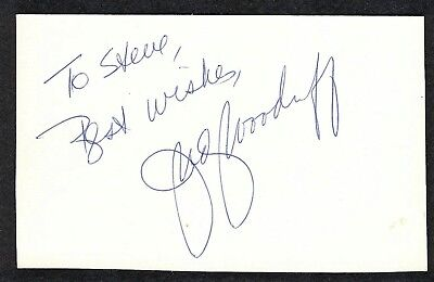 Judy Woodruff Signed 3X5 Index Card Pbs Newshour Anchor Editor Journalist Coa
