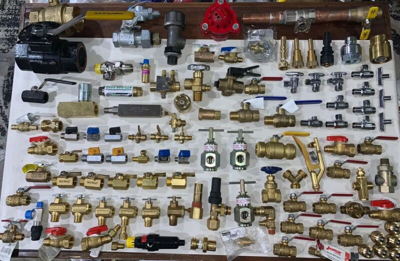 115 VALVES! -MASSIVE MIX LOT-Brass Stainless Valve Fittings Check Valves Ball