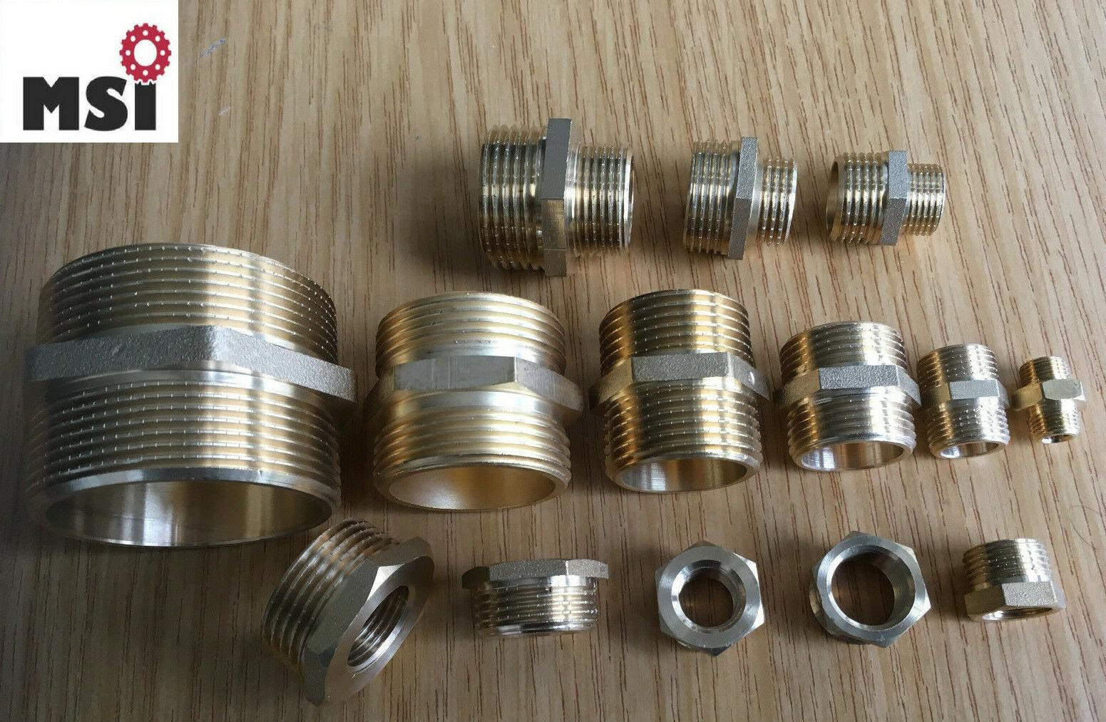 "AG 1 1//2"" Doppelnippel m PVC Doppel Nippel Außengewinde Fitting Fittings"