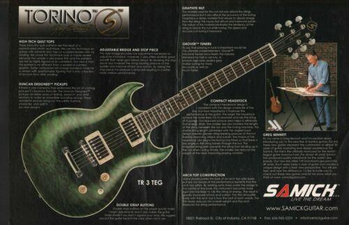 2002 Samick Torino TR 3 Greg Bennett Design - 2-Page Vintage Guitar Ad