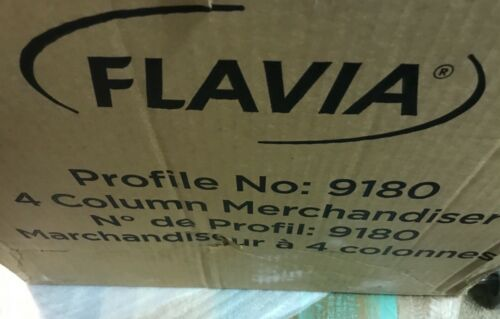 "NEW Flavia 4-Column Countertop Drink Display, 14""H x 16 5/8""W x 17 1/4""D, Black"