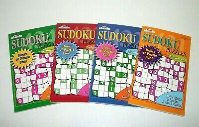 Lot of 4 Kappa Sudoku Puzzle Books Vol. 431-434 Take Along New