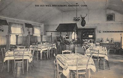 Simsbury Connecticut Old Well Restaurant Pitchers On Buffet Deer Trophy 1920S