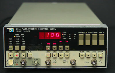 Hp Keysight 8116a 50 Mhz Pulse Function Generator