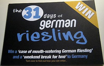 Advertising Drink German Riesling Competition - unposted