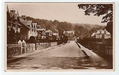 THE SCHOOL ROAD, RHU, GARELOCH: Dunbartonshire postcard (C22927)