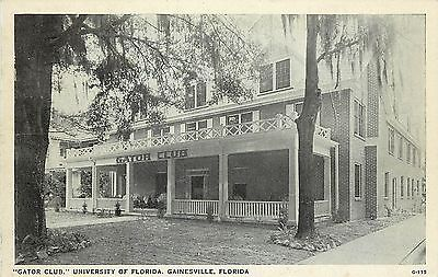 Vintage Postcard Gator Club University Of Florida Gainesville FL Alachua County for sale  Redding