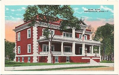 Elks Club In Coffeyville Ks Postcard