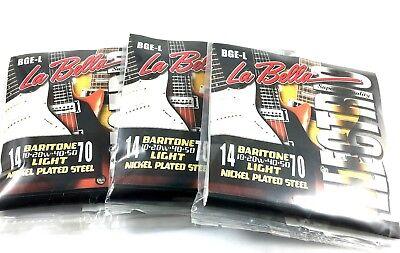 La Bella Guitar String Electric Baritone Light 3 Pack 14-70 Nickel Plated Steel